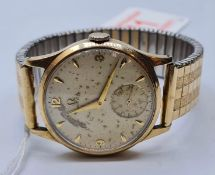9ct gold OMEGA 266 movement 13807874 not working, face worn