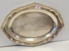 ASPREY STERLING SILVER TRAY, weight 1881.2G