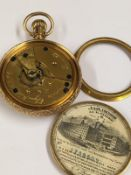 Antique rare case Elgin pocket watch with original label corresponding serials