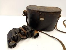 German Military independently focusing, sealed binoculars circa 1920?s used during WW2 for sure as