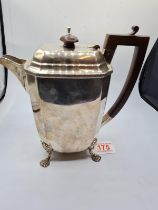 A Mappin & Webb H/M Silver Coffee Pot made in 1904 in Sheffield, 646grams weight and 19cm tall