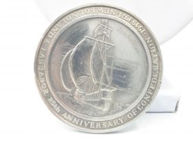 1974 pure silver medal to celebrate the 25th anniversary of the Confederation of Newfoundland and