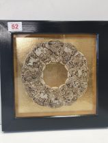 An antique, hetian jade, Chinese Astrological disc, consisting of twelve pieces representing the