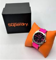 SUPERDRY PINK DIAL AND STRAP WATCH BRAND NEW WITH BOX SYL115P