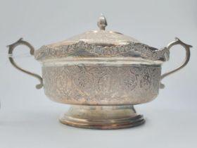 Persian Silver SUGAR BOWL. 278g