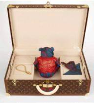 Louis Vuitton Pudsey Bear in LV travel case (One off edition) The one of a kind Punk-styled LV