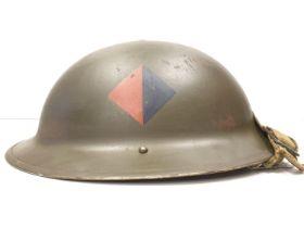 WW2 Royal Artillery Helmet with Anti Air Craft Unit Insignia.