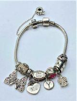 Pandora style silver BRACELET.