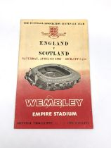 All England home international football programs played at the old Empire Stadium Wembley from