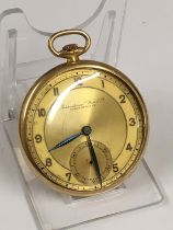 Vintage 9ct solid gold IWC (International Watch Company) Schaffhausen Pocket watch (A/F) needs