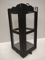 WW1 1916 Dated British Folding Bunker Candle Lantern. Replacement Glass.