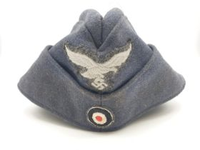 WW2 German Luftwaffe Enlisted Mans-Nco?s Side Cap. Dated 1941 with a Berlin Makers Mark.