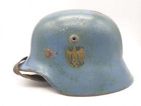 WW2 Kriegsmarine M40 Helmet. A lovely salty cellar find from Keil, Germany.