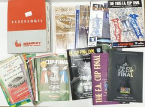 F.A. Cup Final Programs from 1963 - 2000 including the 1993 replay & 1996 which are very rare.