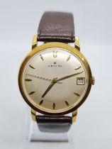 ZENITH 18k gold vintage gent watch, 36mm case 785629