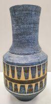 Blue Vintage Troika Vase, Height 26cms.
