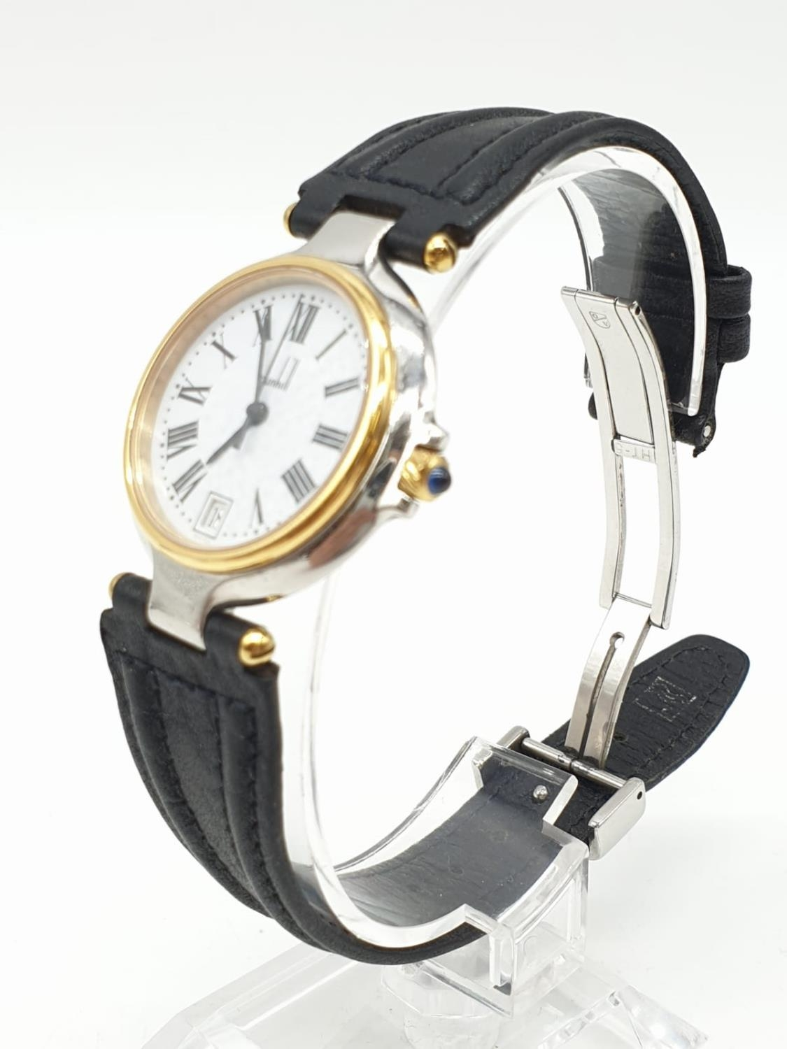 Dunhill Unisex Quartz Watch. New and Unworn. White Face with Roman Numerals. - Image 2 of 4