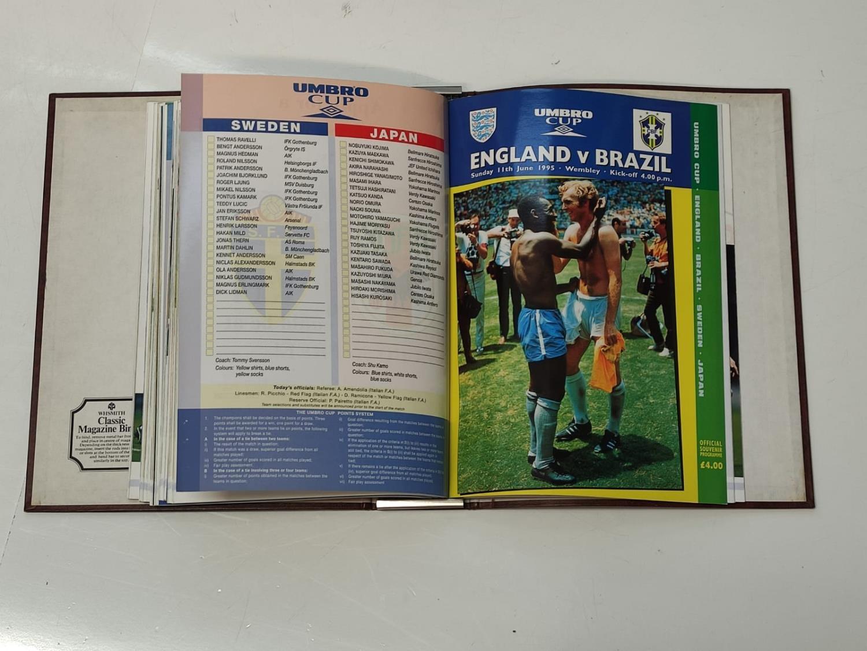 6 UMBRO Cup (1995) Match Programs.