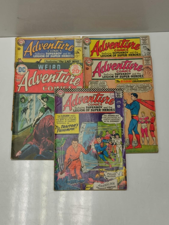 5 editions of DC Adventure Comics featuring Super-boy.