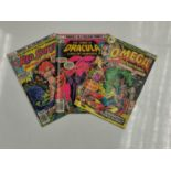 5 editions of Special Vintage Marvel Comics including 'The Tomb of Dracula'.