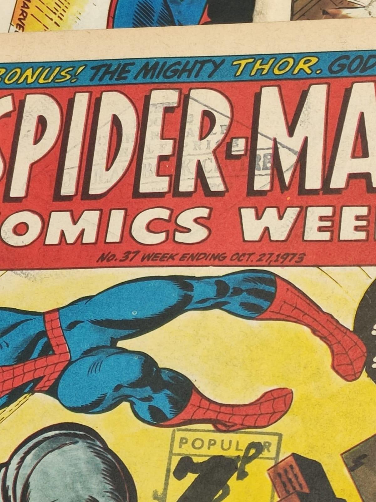 6 x Marvel comics. 1973 Spider-Man comics weekly. - Image 7 of 13