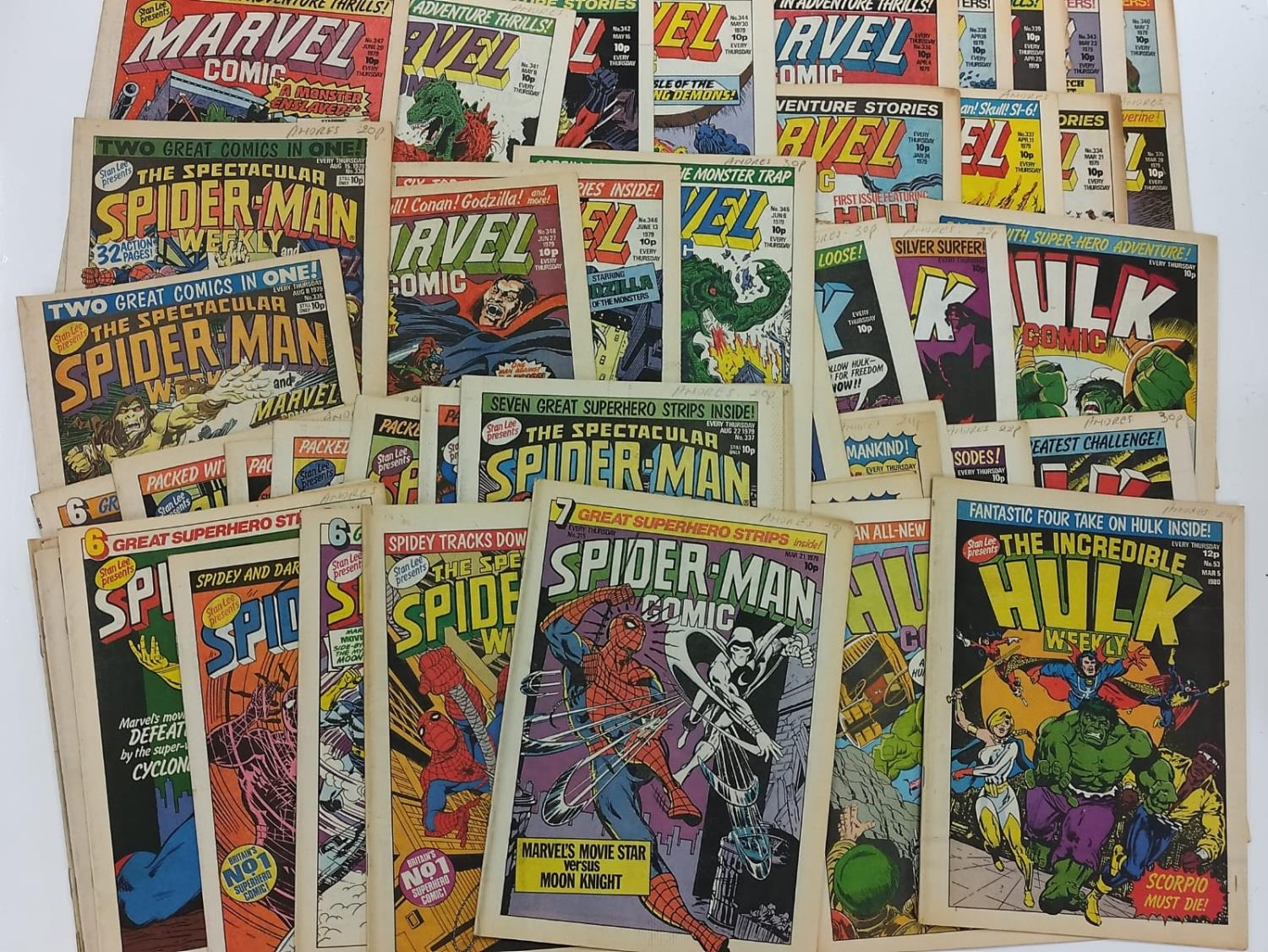 50 editions of Stan Lee Presents, a selection of 1979/1980's comics.