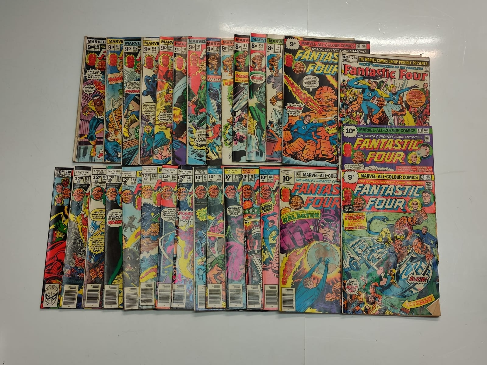 30x Marvel Fantastic four mid 1970s editions. Used, in good condition.