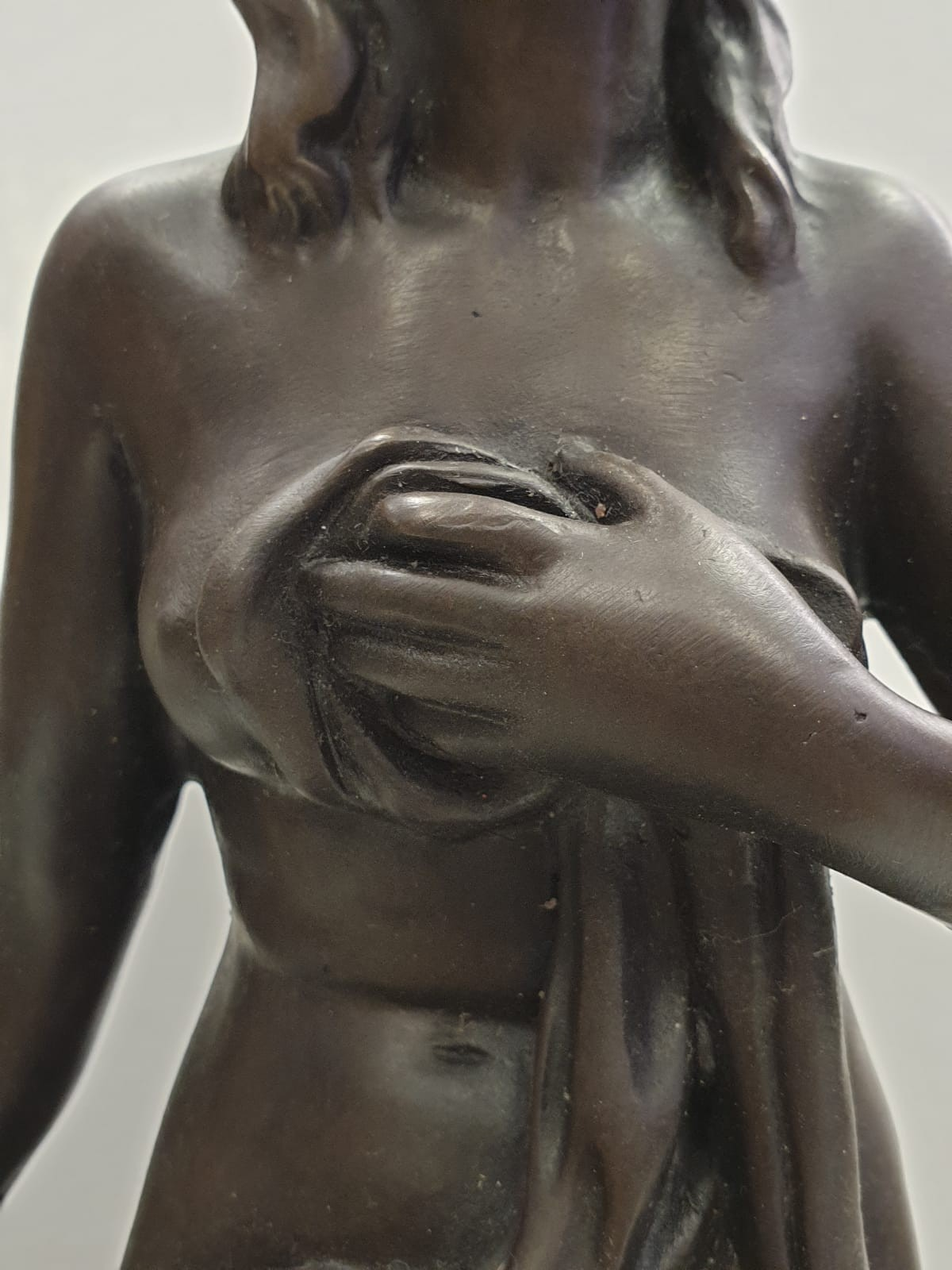 Bronze Pierre Julien figurine on plinth. 'Amalthea and Jupiter's Goat'. Height 45cm. Weight 9.7kg - Image 23 of 27