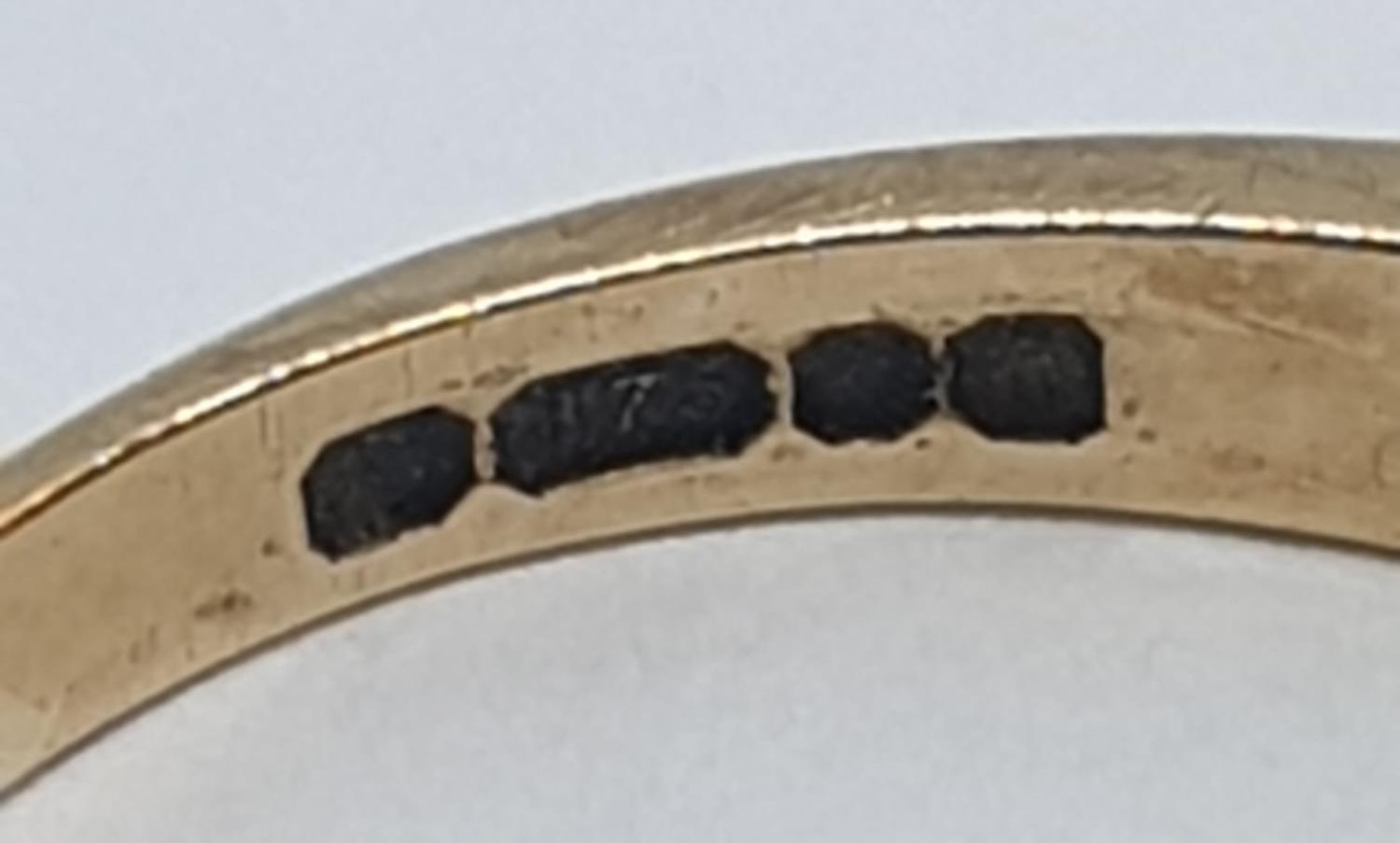 9ct Yellow gold emerald half eternity ring. Weight 2.8g, Size O. - Image 7 of 8