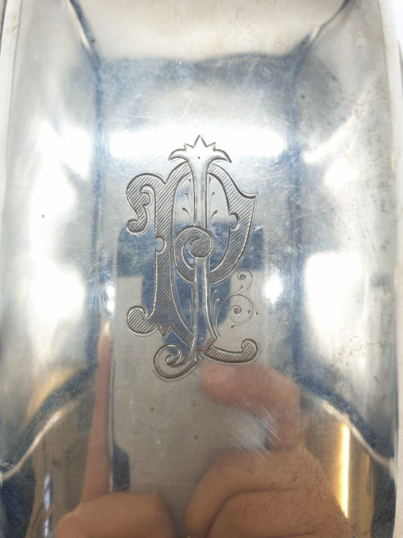 Edwardian John Millward Banks, Sterling Silver Cigarette Case Box with engraving on front, - Image 2 of 8