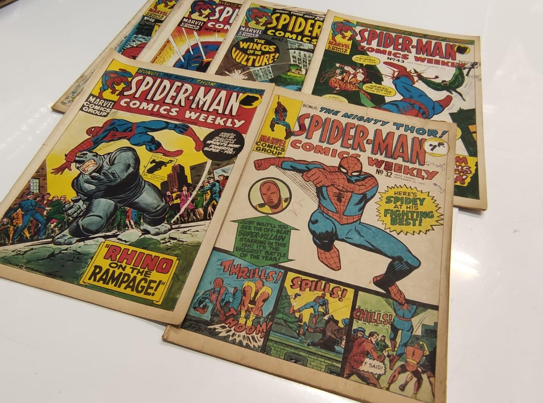 6 x Marvel comics. 1973 Spider-Man comics weekly. - Image 2 of 13
