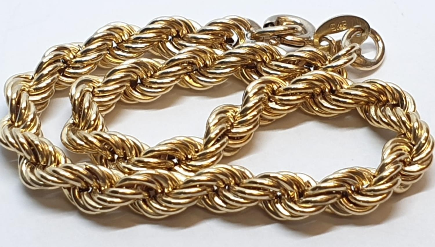 9ct Yellow gold rope bracelet. Weight 3.8g, Length 9cm. - Image 2 of 6