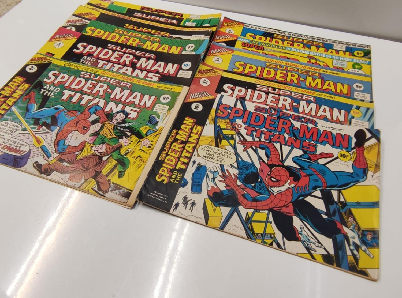 27 editions of Vintage Super Spider-Man Marvel Comics. - Image 11 of 13