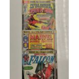 3 Eclectic Vintage Marvel Comics, including the rare 'Peter Parker, The Spectacular Spider-Man'.