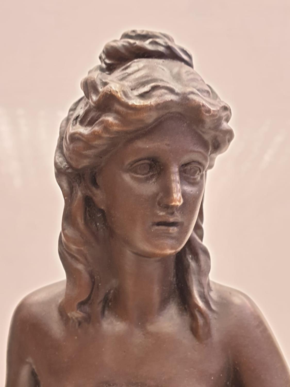 Bronze Pierre Julien figurine on plinth. 'Amalthea and Jupiter's Goat'. Height 45cm. Weight 9.7kg - Image 24 of 27