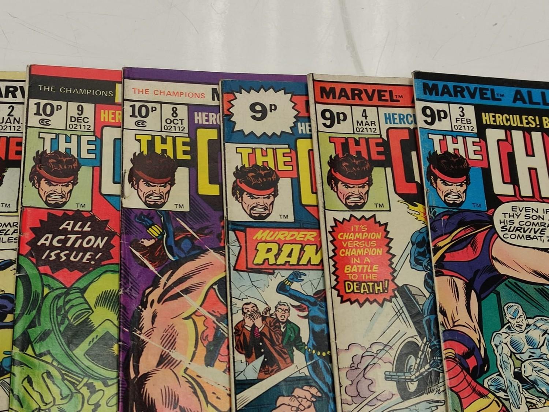9 Copies of Vintage Marvel 'The Champion' Comics. - Image 7 of 14