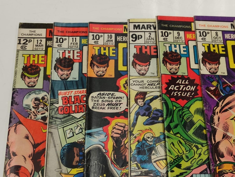 9 Copies of Vintage Marvel 'The Champion' Comics. - Image 5 of 14