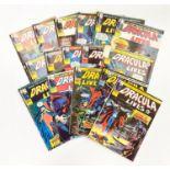 16 editions of Vintage Marvel 'Dracula Lives' comics.