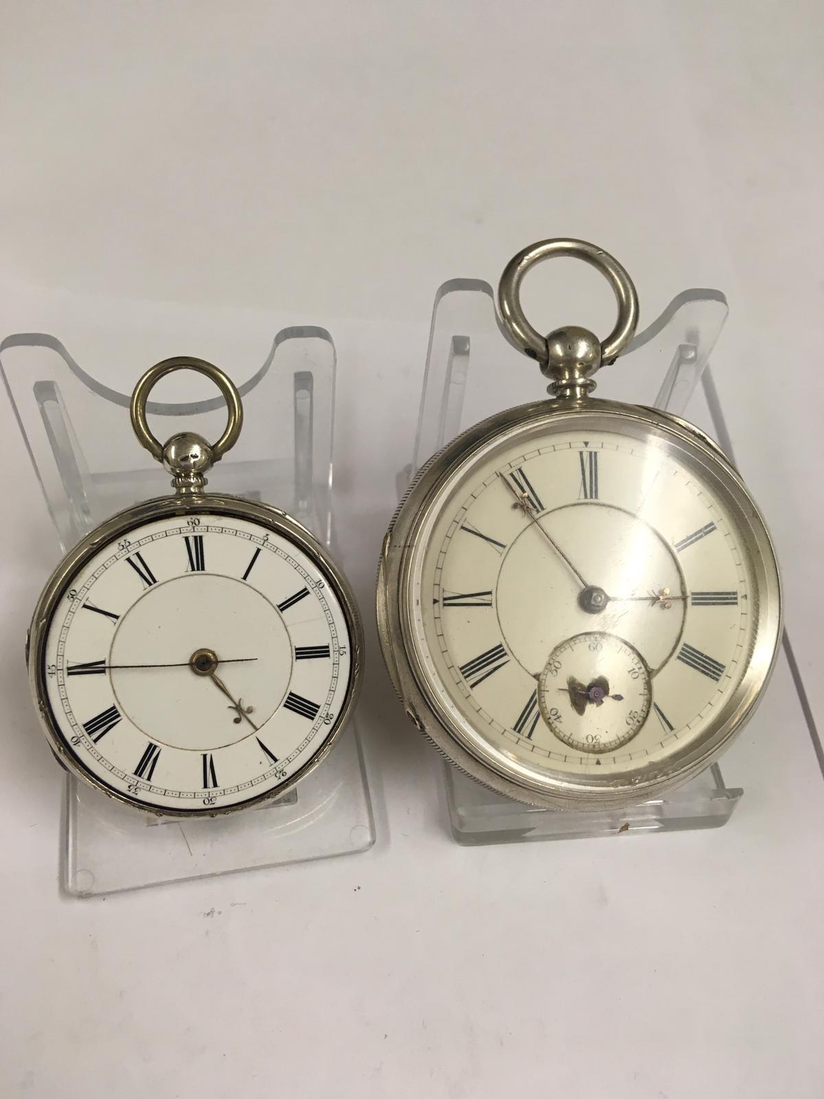 Antique silver pocket watches AF - Image 5 of 5