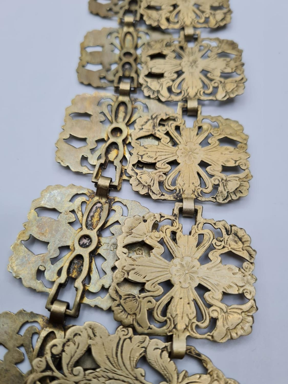 Vintage Pierced Floral Epns 'Nurses' Type Belt. - Image 3 of 3