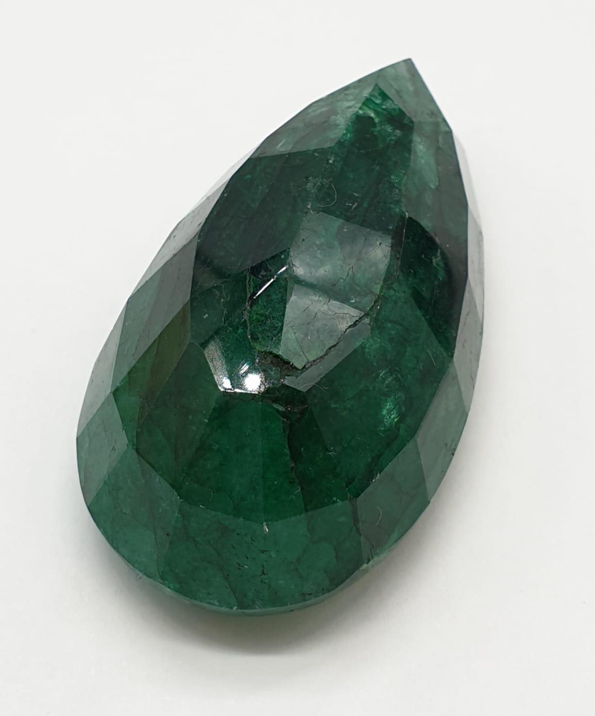 184ct Large Size Emerald Gemstone Pear Shape GLI CERTIFIED - Image 2 of 9