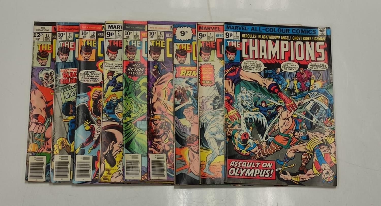 9 Copies of Vintage Marvel 'The Champion' Comics. - Image 2 of 14