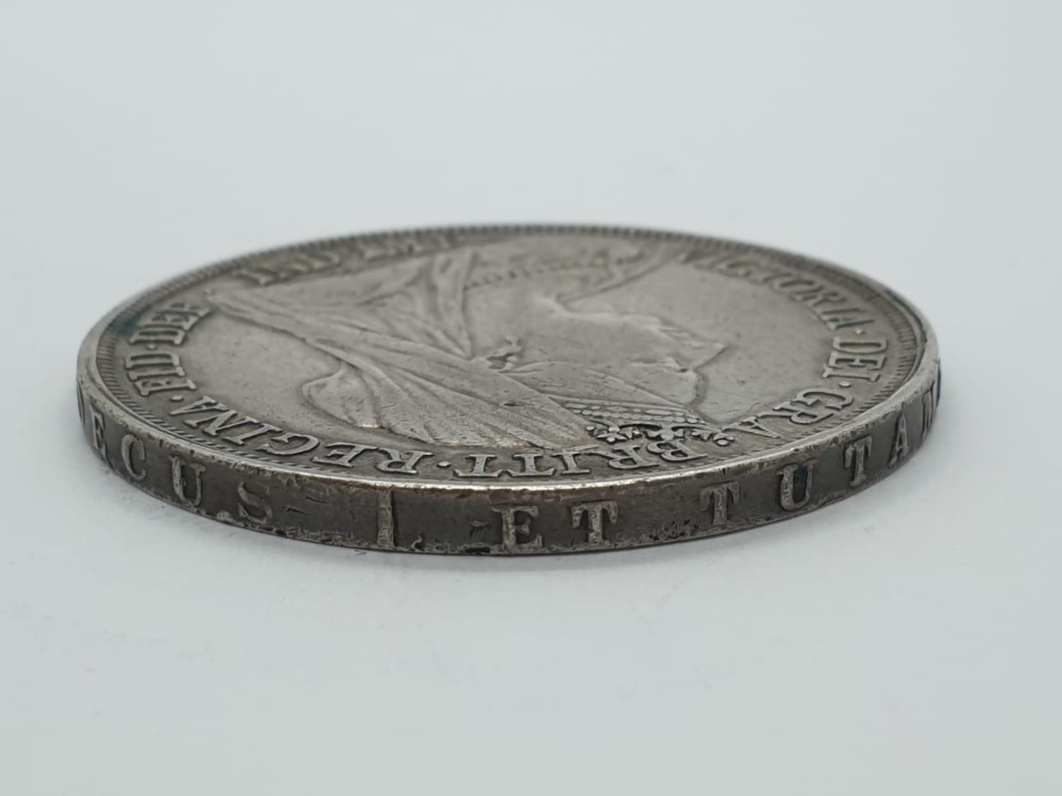 1893 Victorian silver crown - Image 4 of 5