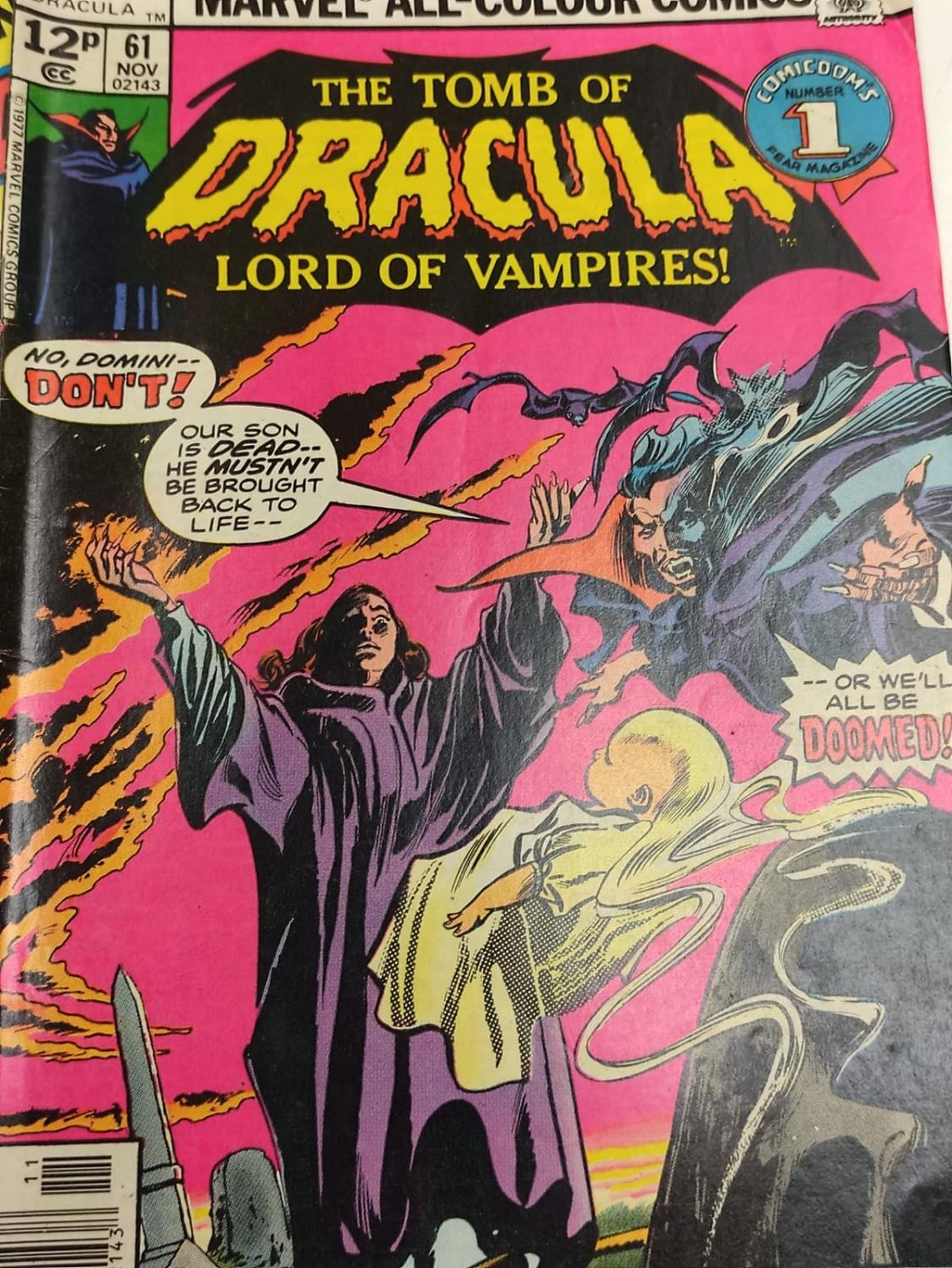5 editions of Special Vintage Marvel Comics including 'The Tomb of Dracula'. - Image 9 of 15