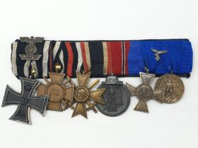 German Luftwaffe Medal Group with awards from both World Wars.