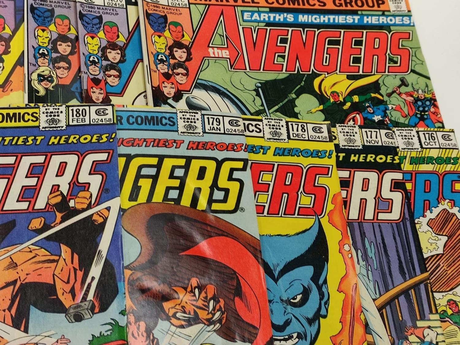 17 editions of Vintage Marvel 'The Avengers' comics in very good condition. - Image 10 of 12