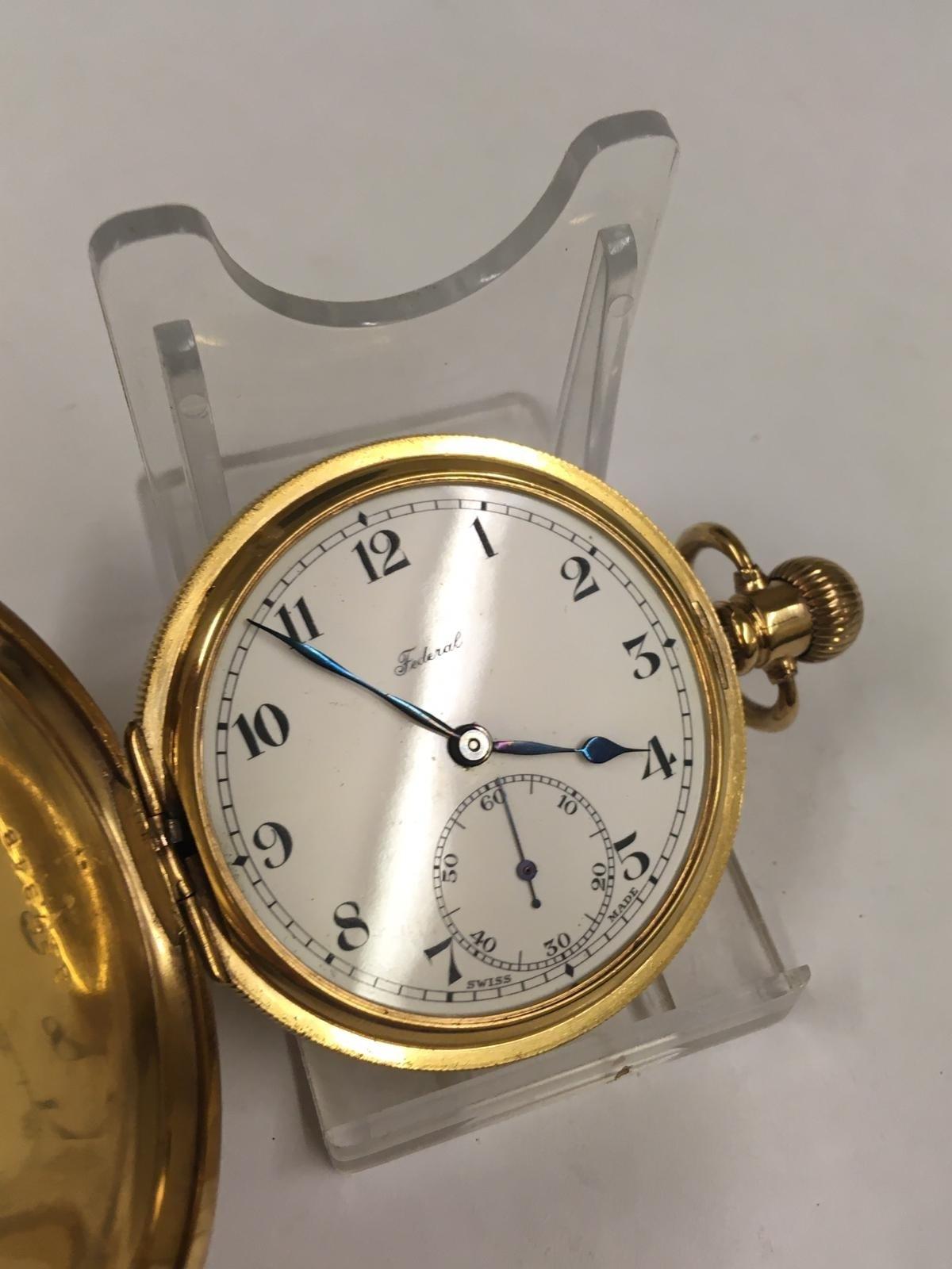Vintage full hunter pocket watch (AF) - Image 5 of 9
