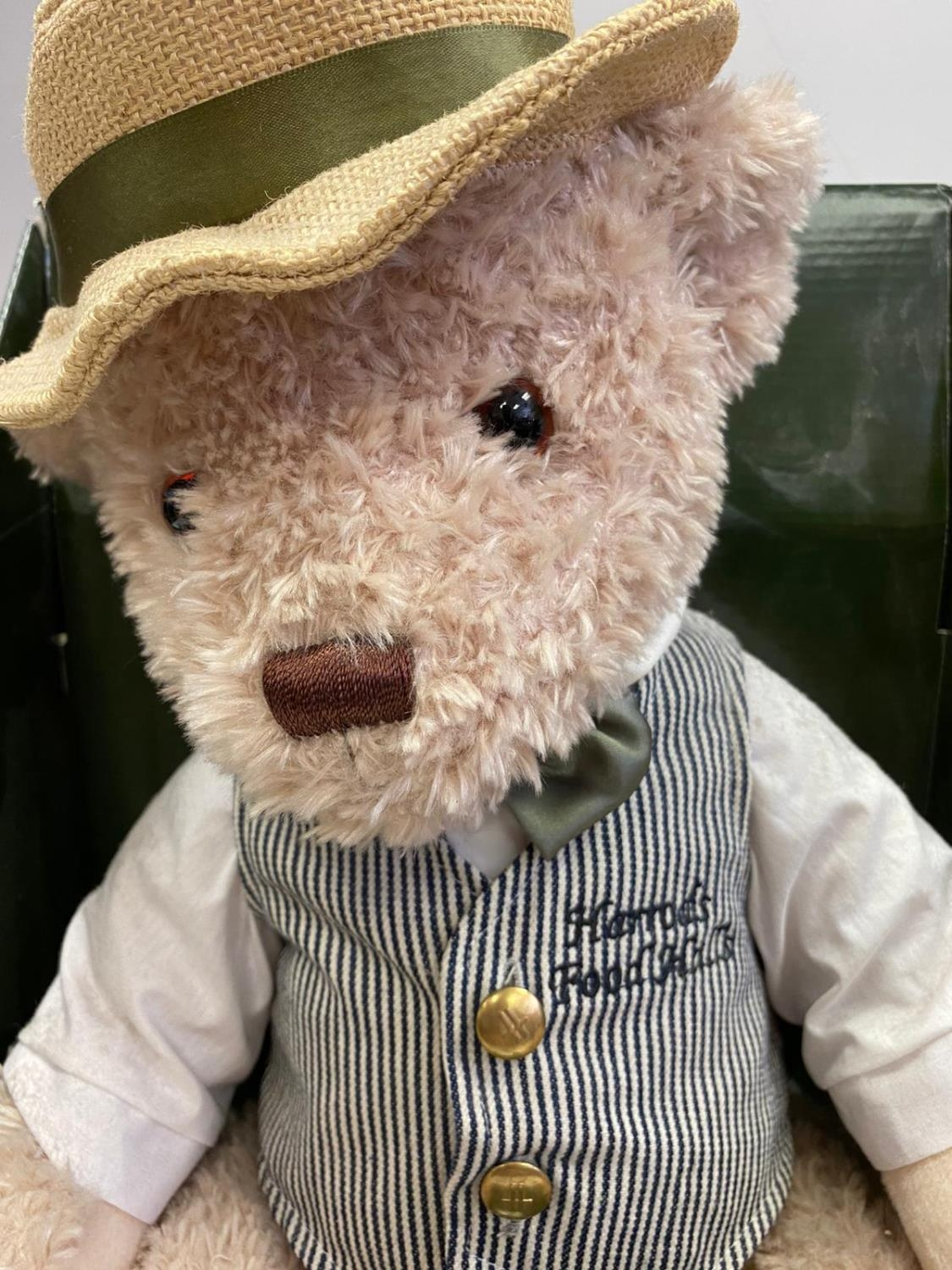 Harrods 2009 annual bear. Whose name is William. Still in original box. 50cm in height approx. - Image 2 of 3