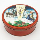 Vintage biscuit tin from Corsicana, Texas,