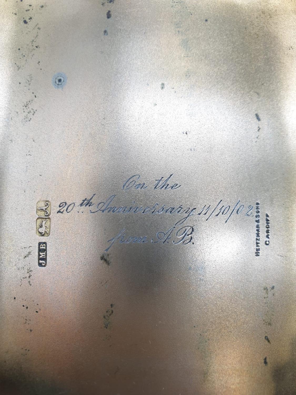 Edwardian John Millward Banks, Sterling Silver Cigarette Case Box with engraving on front, - Image 5 of 8